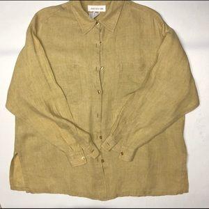 Jones NY linen blouse, Sz 12, excellent condition